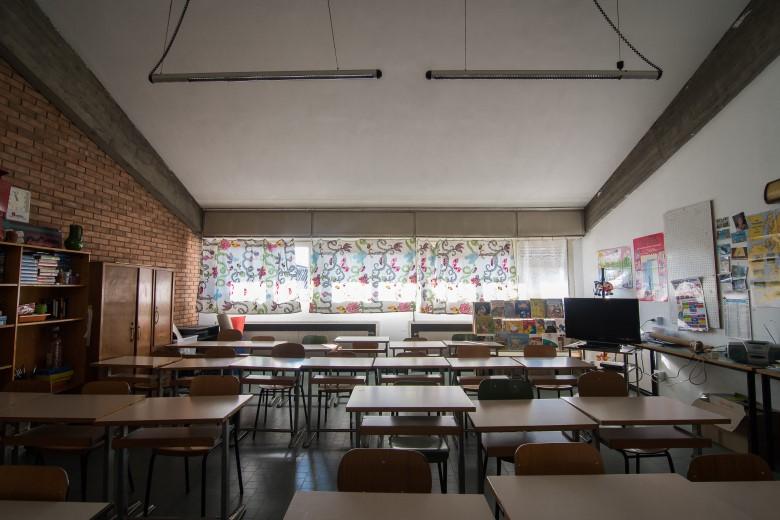 Un'aula della scuola primaria