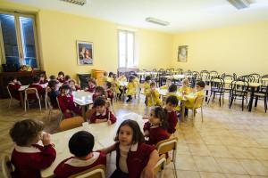 Il refettorio della scuola dell'infanzia