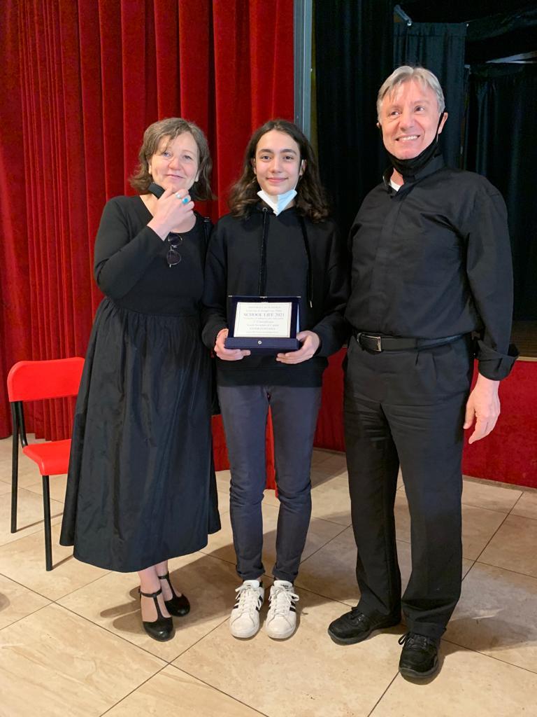 Ester alla premiazione del concorso della Pastorale Scolastica